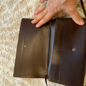 Chocolate Brown leather walled purse